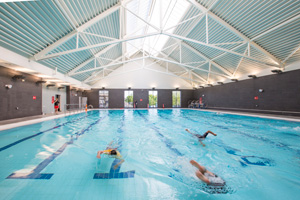The swimming pool at Everyone Active Acton Centre