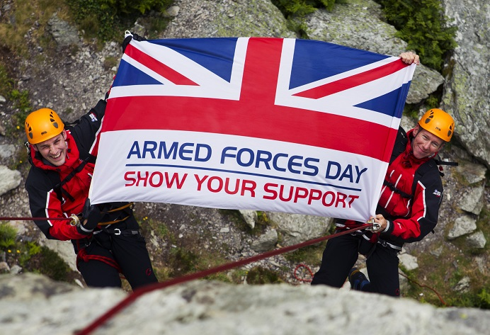 Armed forces day tag ©UK MOD Crown Copyright 2018