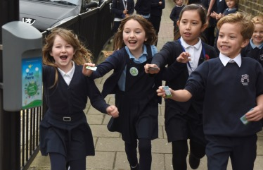 Children taking part in Beat the Street competition
