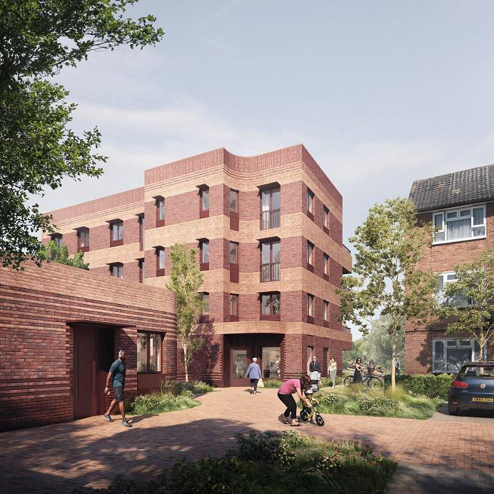 A CGI of Chesterton Court, one of the proposed new developments that Broadway Living will build
