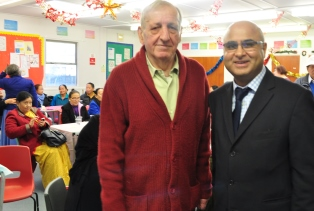 Neighbourly Care's Andy Buddle with Councillor Hitesh Tailor