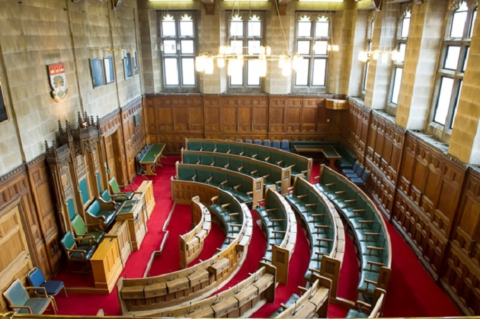 Council Chamber in Ealing Town Hall