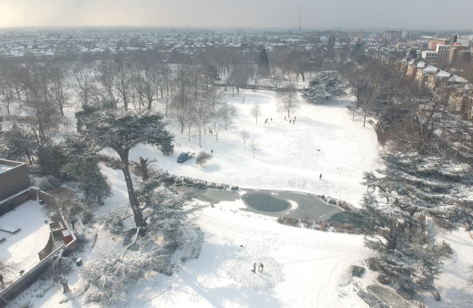 Snow at Walpole Park