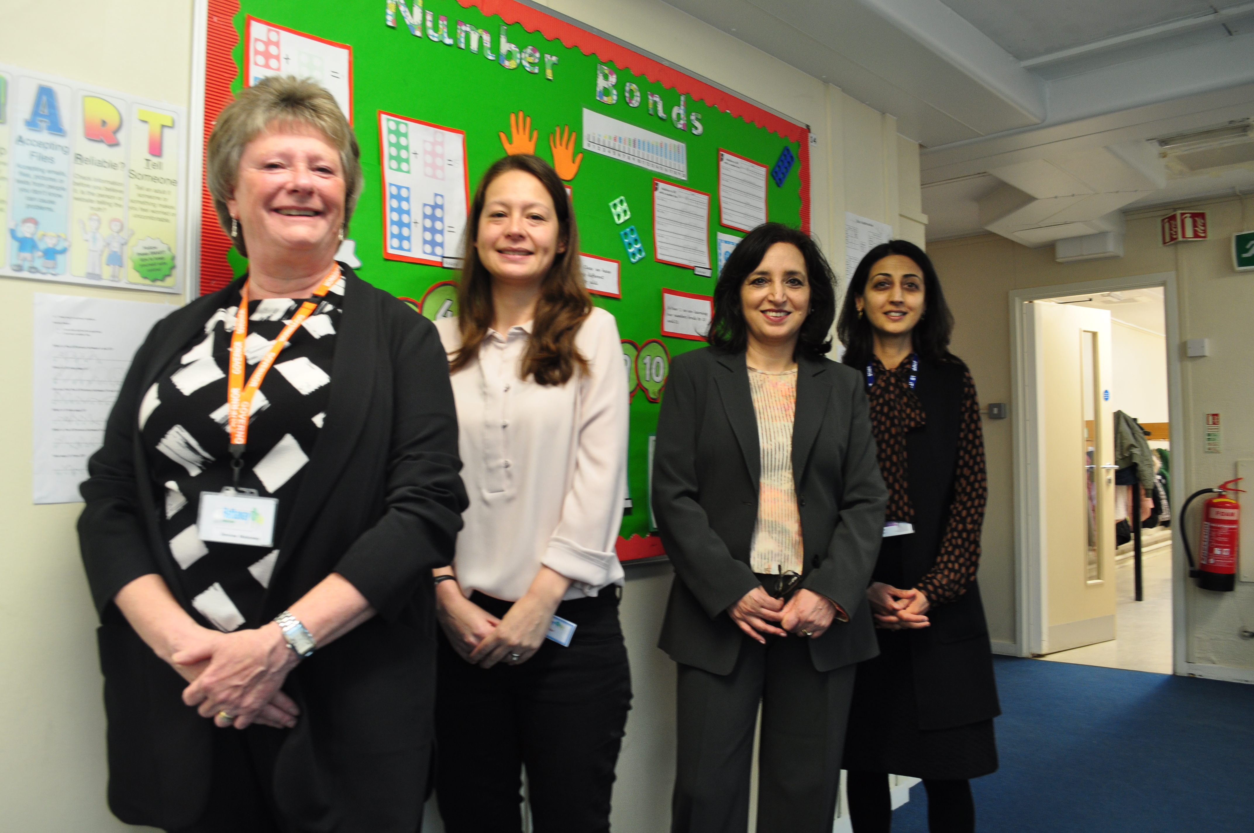 Hathaway Primary School governors and head with Councillor Rai