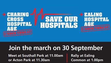 Save our hospitals - Join the march