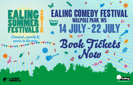 Ealing Comedy Festival 14 July - 22 July. Book tickets now
