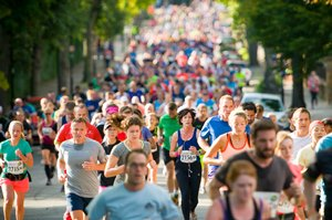 Runners in the Ealing Half Marathon