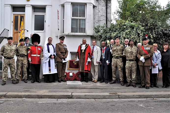 Mayor of Ealing with military and Royal British Legion representatives