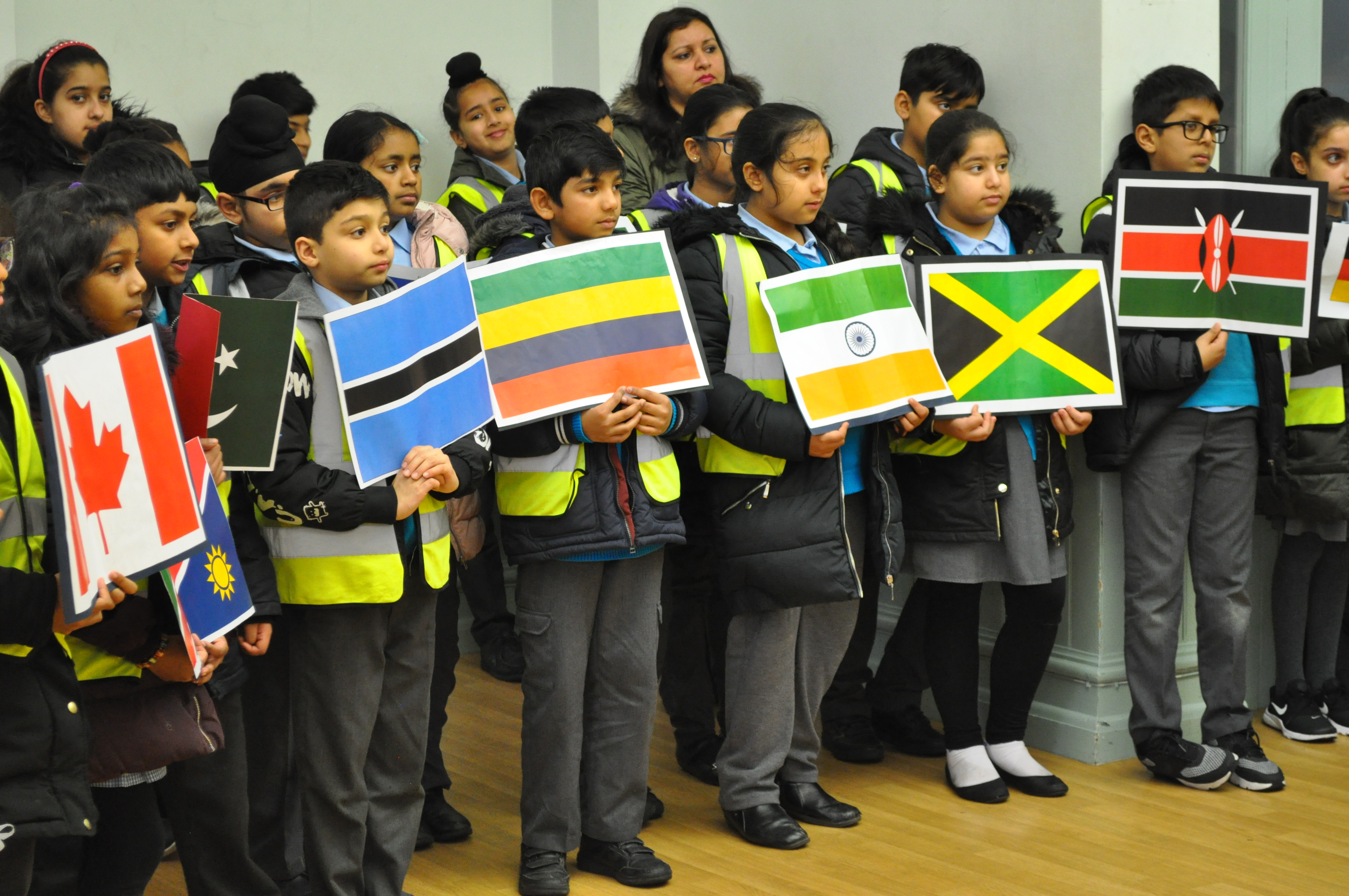 Hambrough students celebrating International Commonwealth Day