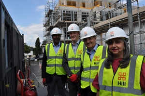 Councillors visit brownfield site of new housing