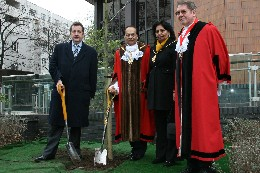 Councillors plant tree for Holocaust memorial day