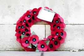 Poppy wreath for armistice day