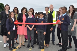 The launch of the Daily Mile scheme at Stanhope Primary School