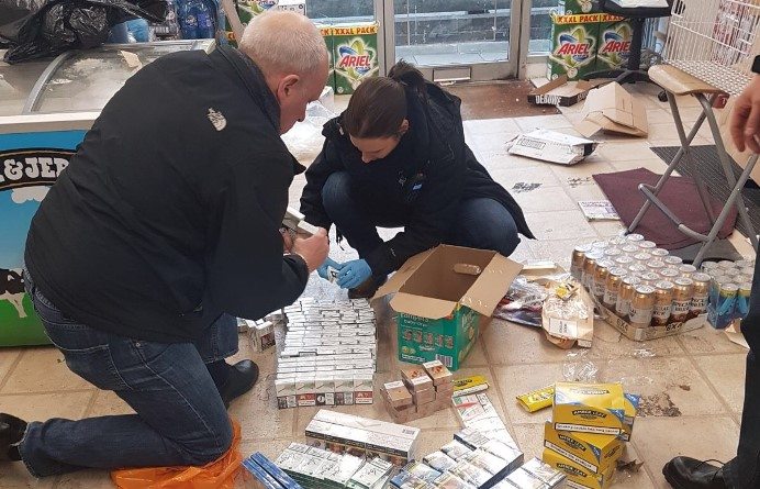 Pre-Christmas raids in Southall by trading standards officers and police.