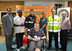 WEB Cllr Mahfouz with Safe Drive Stay Alive speakers