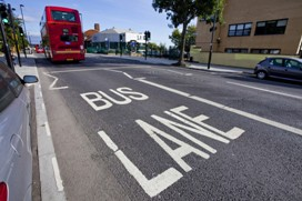 enforcement in bus lanes
