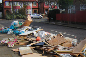 Rubbish in the street