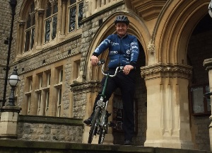 Cllr Julian Bell on his bike