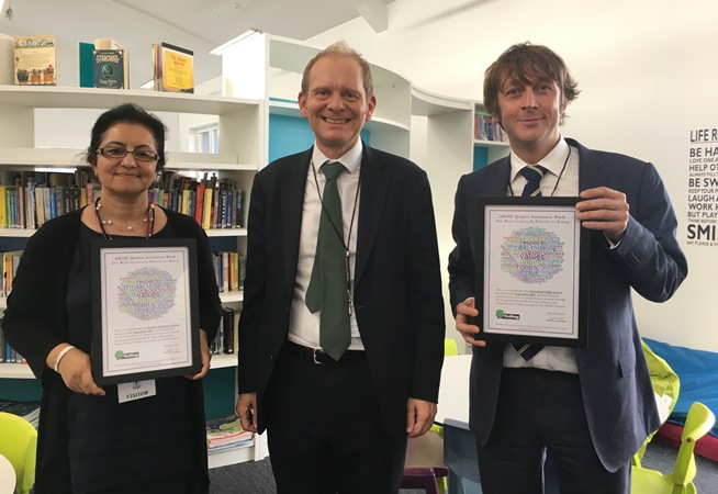 Ealing schools recognised through ARISE network.